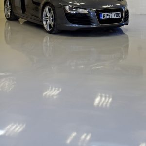 Mid grey garage floor paint
