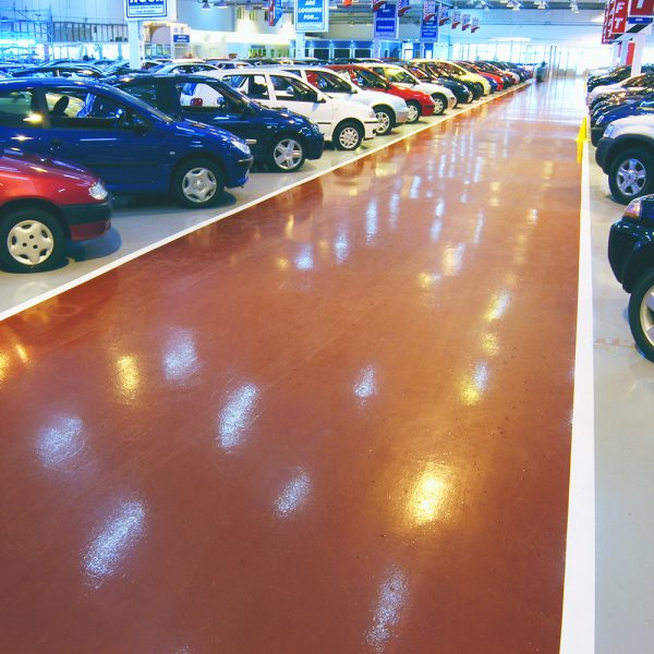 Chemical resistant resin installed at Carcraft