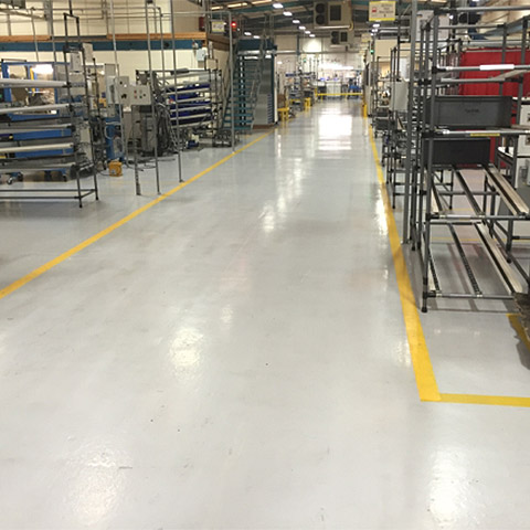 Automotive factory floor in grey Pumatect