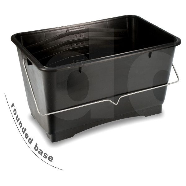 10 Litre black plastic paint scuttle