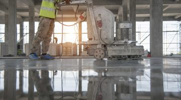 Deep cleaning an epoxy cement floor