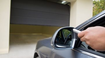 Opening a garage door with remote fob